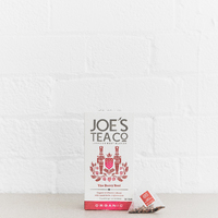 Grid square the berry best retail front of pack with pyramid bag  joe s tea co.   high res 1x1  1