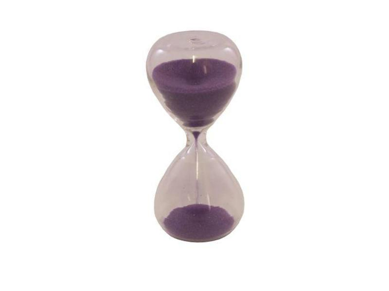 Tea Timer: 3 Minute Glass Sand Timer Purple | Coffee Quest