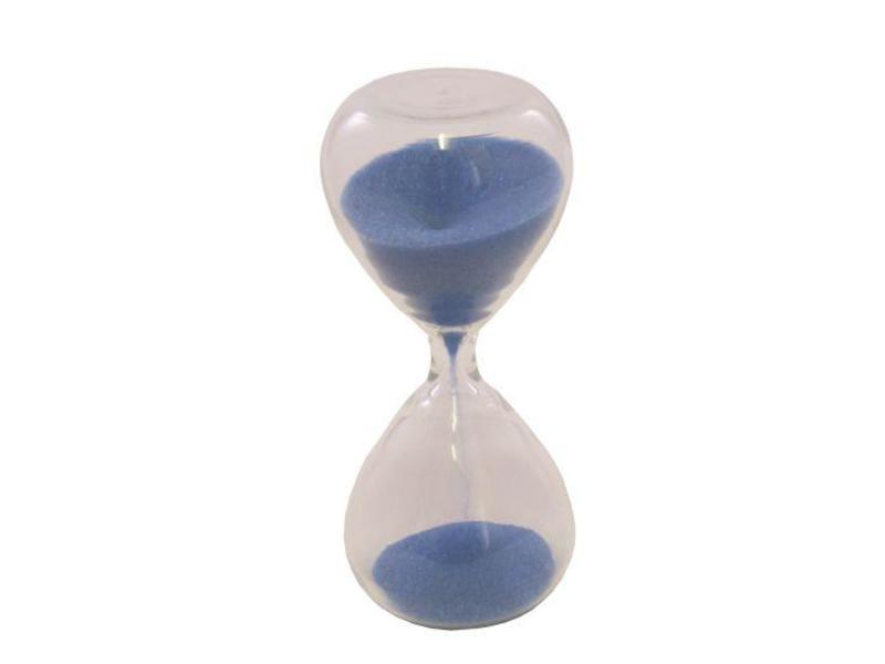 Tea Timer 3 Minute Glass Sand Timer Blue Coffee Quest