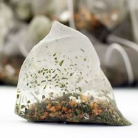Grid square genmaicha  a.k.a. popcorn tea  pyramid teabags preview