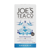 Grid square sweet chamomile front retail front of pack   joe s tea co.   cut out high res