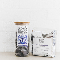 Grid square ever so english breakfast jar and 100ct   joe s tea co.   high res 1x1