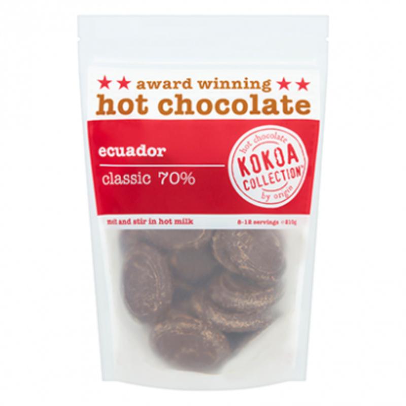 Kokoa Collection 70% Ecuador Hot Chocolate Tablets (210g x 6)